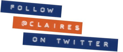Follow @Claireseurope on twitter
