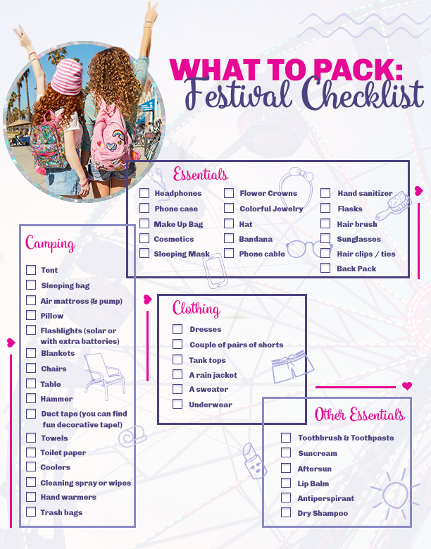 697eb3f8b0cf7 Check out our festival checklist on what to pack for music