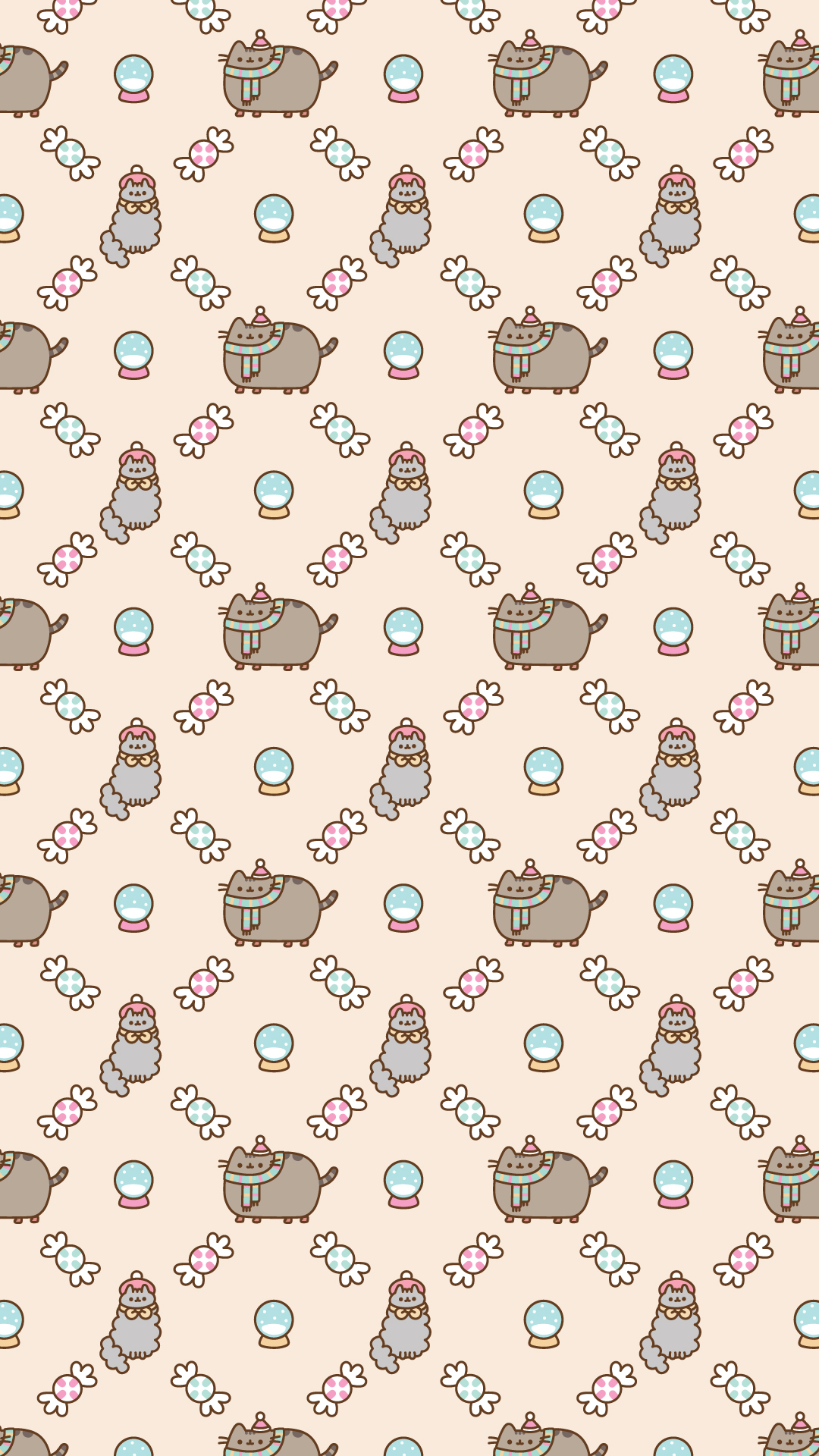 Android Free Pusheen Christmas Wallpaper