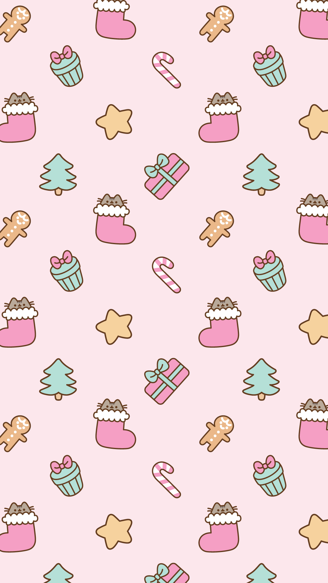 Free Christmas Pusheen Android and