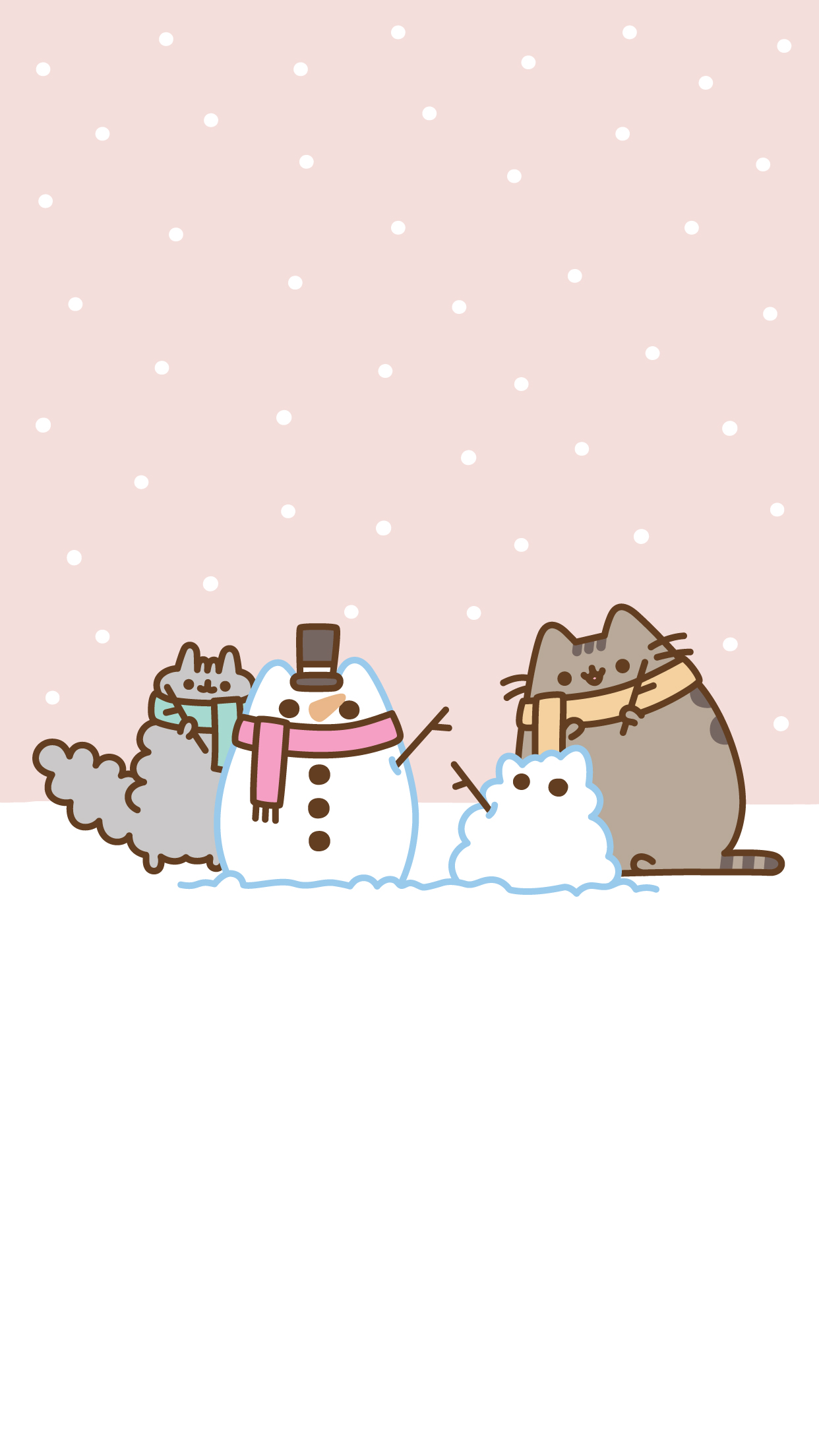 iPhone® iPhone Free Pusheen Christmas Wallpaper