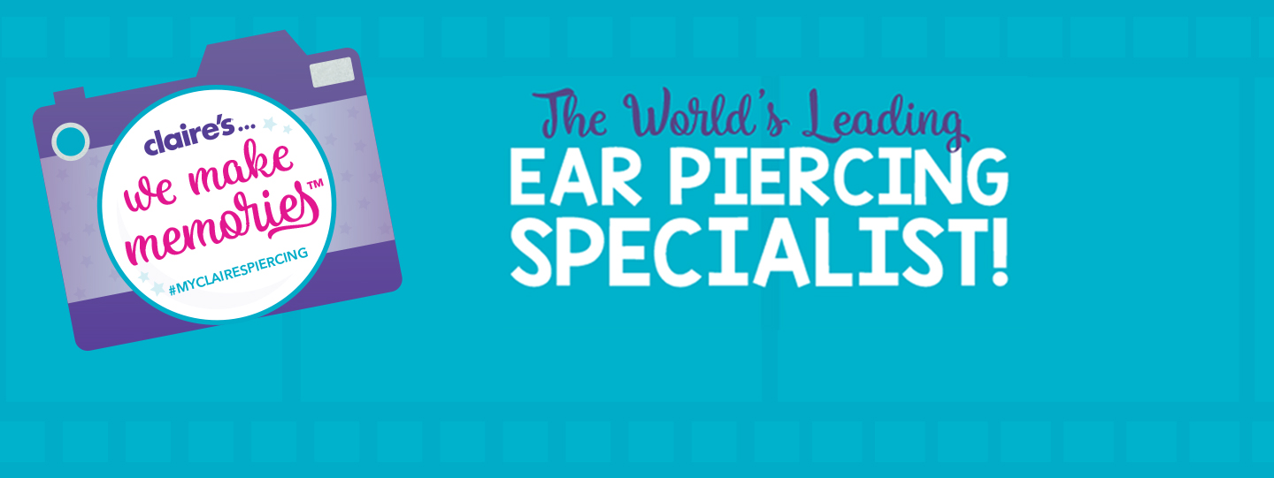 Ear Piercing At Claire S We Make Memories Clairesblog