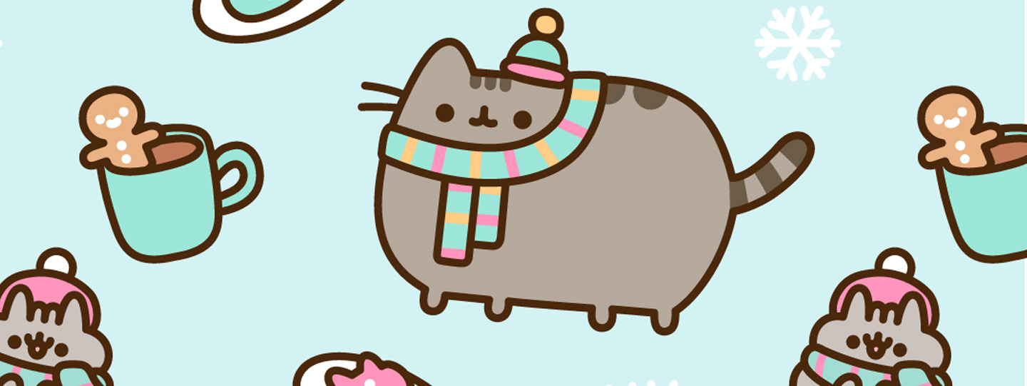 FREE Exclusive Pusheen Android and iPhone® Christmas Wallpapers